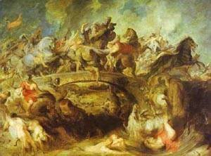 Rubens - The Battle Of The Amazons 1618-1620