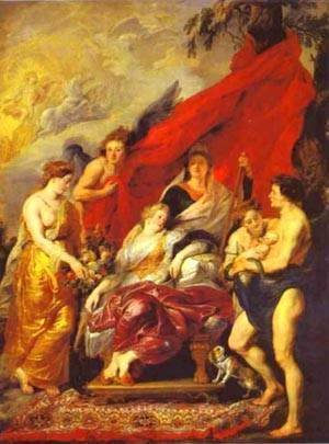Rubens - The Birth Of Louis XIII 1621-1625
