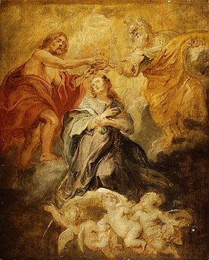 Rubens - The Coronation of the Virgin sketch