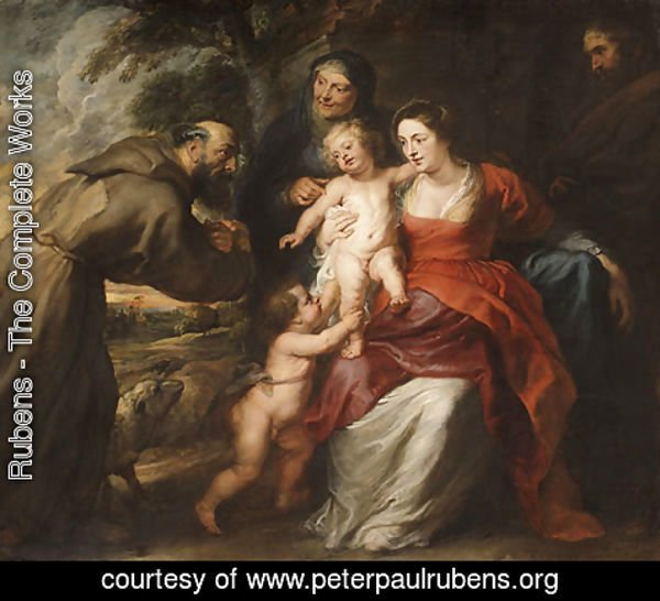 Rubens - The Holy Family with Saints Francis and Anne and the Infant Saint John the Baptist probably early 1630s