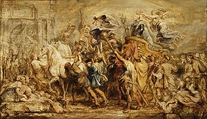 Rubens - The Triumph of Henry IV sketch 1627