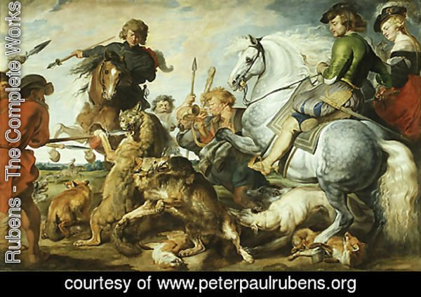 Rubens - Wolf and Fox Hunt ca 1615