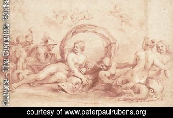 Rubens - The meeting of Peleus and Thetis, after Agostino Carracci