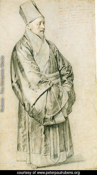 Portrait of Nicolas Trigault S.J. in Chinese costume