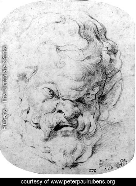 Rubens - The head of Silenus, after the antique