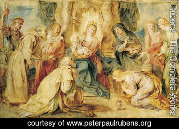 Rubens - The Virgin and Child enthroned adored by eight Saints