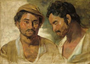 Rubens - Two studies of a man, head and shoulders