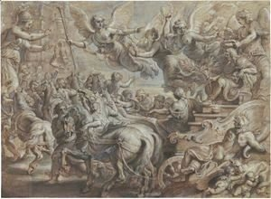 Rubens - Scipio Welcomed Outside The Gates Of Rome, After Giulio Romano