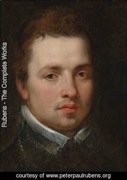 Portrait Of A Young Man Bust-Length, In A Black Doublet With A White Lace Collar