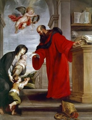 Rubens - Saint Ives of Treguier, Patron of Lawyers, Defender of Widows and Orphans