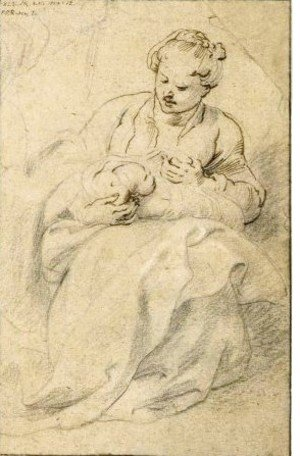 Rubens - A Woman Holding A Swaddled Baby