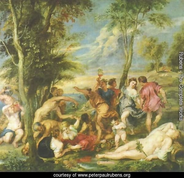 Bacchanal at Andros, after a painting by Titian