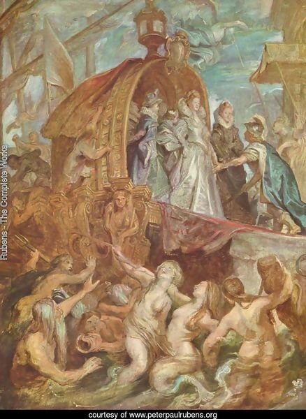 Paintings for Maria de Medici, Queen of France, sketch, scene arrival of Marie de Medici in the port of Marseille