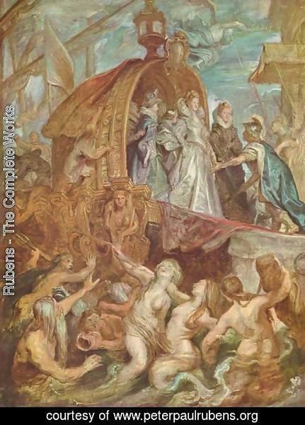 Rubens - Paintings for Maria de Medici, Queen of France, sketch, scene arrival of Marie de Medici in the port of Marseille