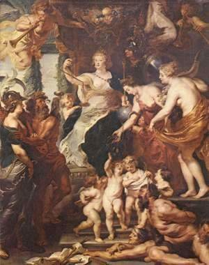 Rubens - Paintings for Maria de Medici, Queen of France, the scene happiness of the regency of Marie de Medici