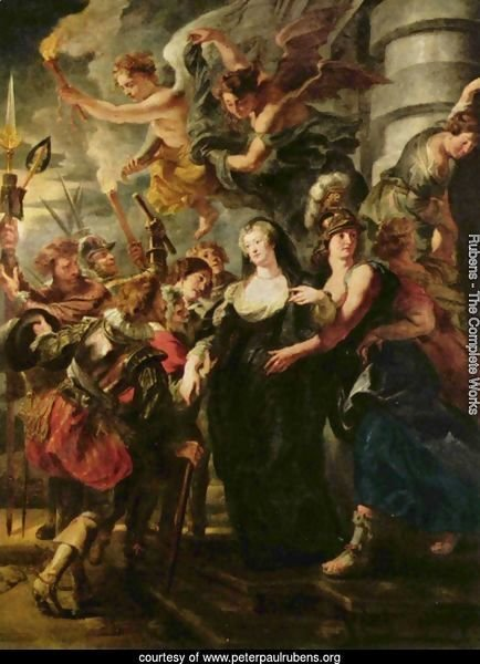 Paintings for Maria de Medici, Queen of France, scene queen escapes from Blois