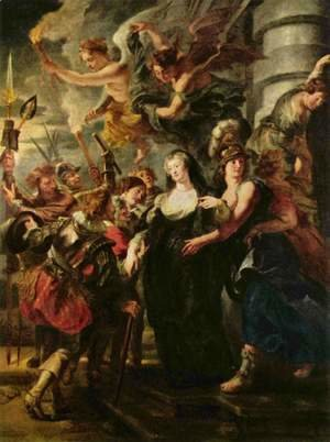 Rubens - Paintings for Maria de Medici, Queen of France, scene queen escapes from Blois