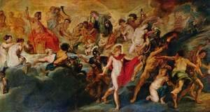 Rubens - Paintings for Maria de Medici, Queen of France, scene the government of the queen (Gotterat)