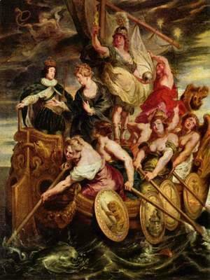 Rubens - Paintings for Maria de Medici, Queen of France, scene coming of age of the Dauphin Louis XIII. and transfer of him by the Government
