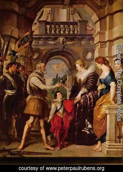 Rubens - Paintings for Maria de Medici, Queen of France, scene Maria de Medici is the regent of France