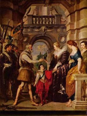 Paintings for Maria de Medici, Queen of France, scene Maria de Medici is the regent of France