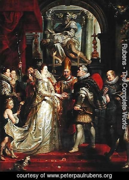 Paintings for Maria de Medici, Queen of France, scene wedding of Henry IV and Maria de Medici in Florence