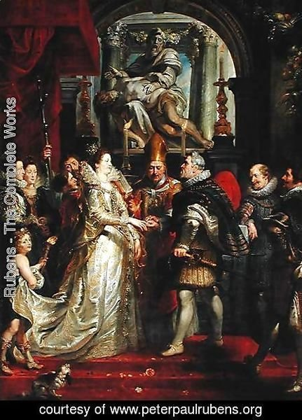 Rubens - Paintings for Maria de Medici, Queen of France, scene wedding of Henry IV and Maria de Medici in Florence