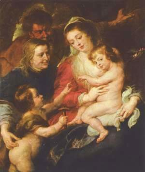 Rubens - Holy Family with Elizabeth and John