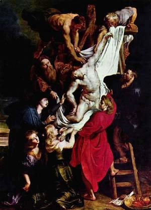 Rubens - Deposition from the Cross, Triptych, central panel of the Cross