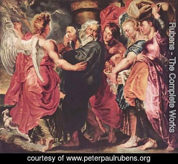 Rubens - The Departure of Lot and his Family from Sodom 2