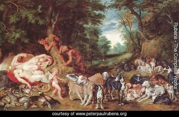 Nymphs, satyrs and dogs