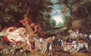 Rubens - Nymphs, satyrs and dogs