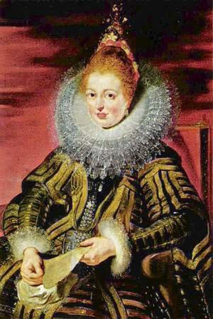 Portrait of the Infanta Isabella Clara Eugenia regent, the southern Netherlands
