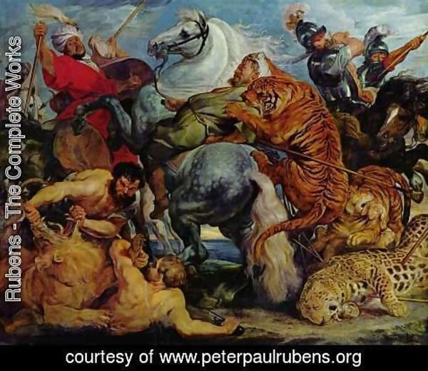 Rubens - Tiger and lion hunting