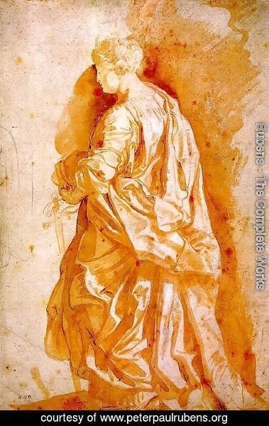 Rubens - Study for a Standing Female Saint