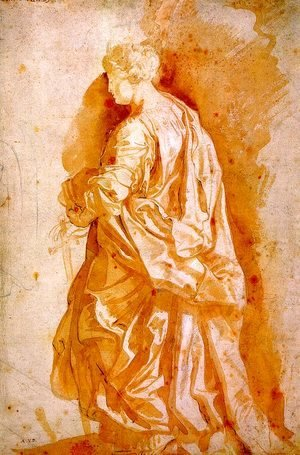 Study for a Standing Female Saint