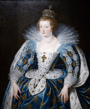 Rubens - Anna of Austria, queen of France, mother of king Louis XIV