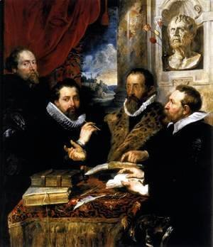 Rubens - Selfportrait with brother Philipp, Justus Lipsius and another scholar