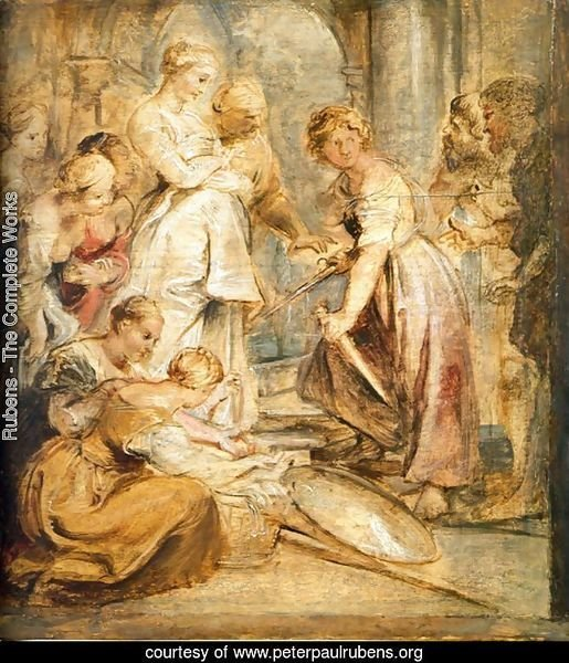 Achilles and the Daughters of Lykomedes