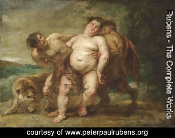 Rubens - Drunken Bacchus with Faun and Satyr