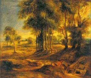 Rubens - Landscape with the Carriage at the Sunset