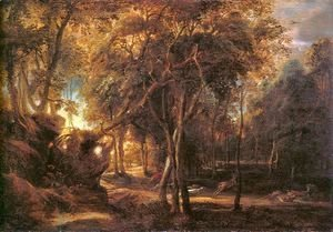 Rubens - Forest Landscape at the Sunrise