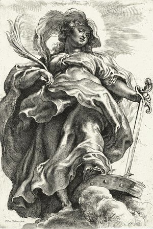 Saint Catherine in the clouds 1620-1621