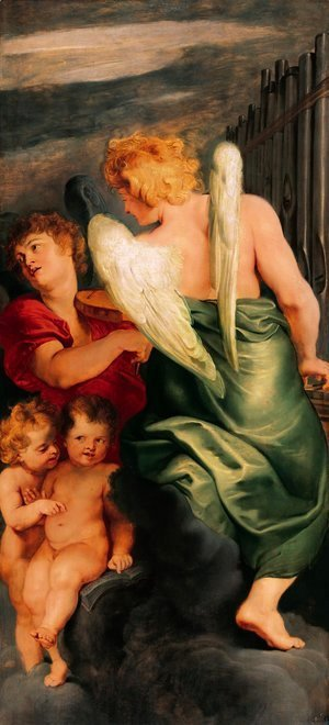 Rubens - Four angels playing musical instruments