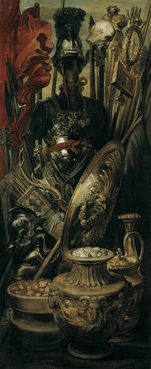 Rubens - Weapons, trophy 1616-1617
