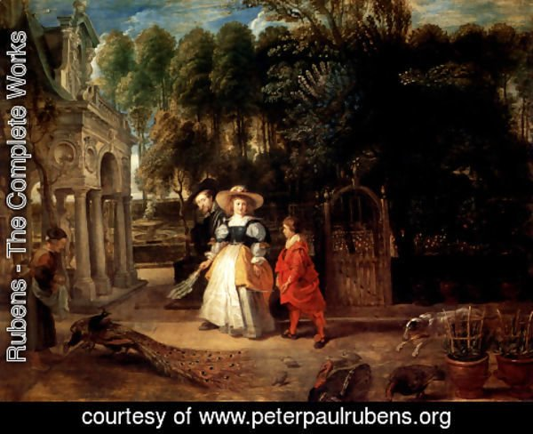 Rubens - Rubens In His Garden With Helena Fourment