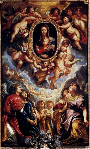 Virgin And Child Adored By Angels