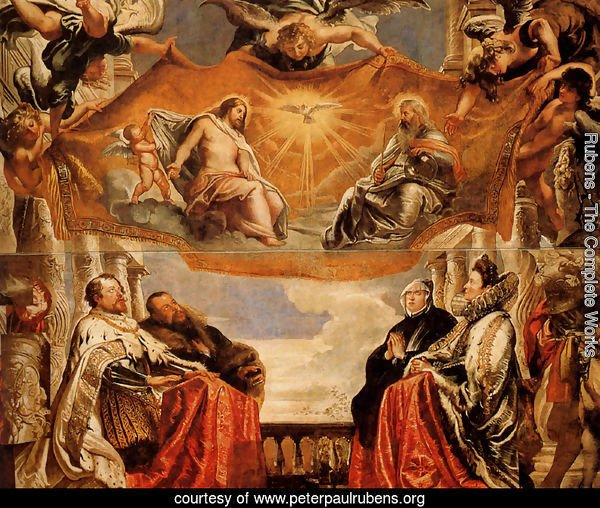The Trinity Adored By The Duke Of Mantua And His Family