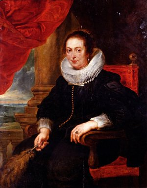 Rubens - Portrait Of A Woman  Probably His Wife